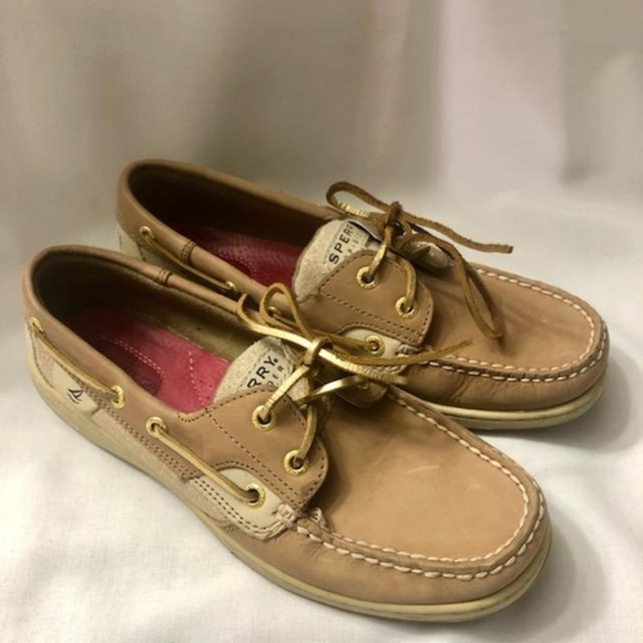 Sperry Gold, Tan and Cream Deck Shoes